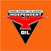 "Independent Oil Decal @ 12"" Wide, $30.00 Each"