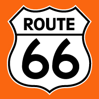"Route 66 Decal @ 12"", $30.00 Each"